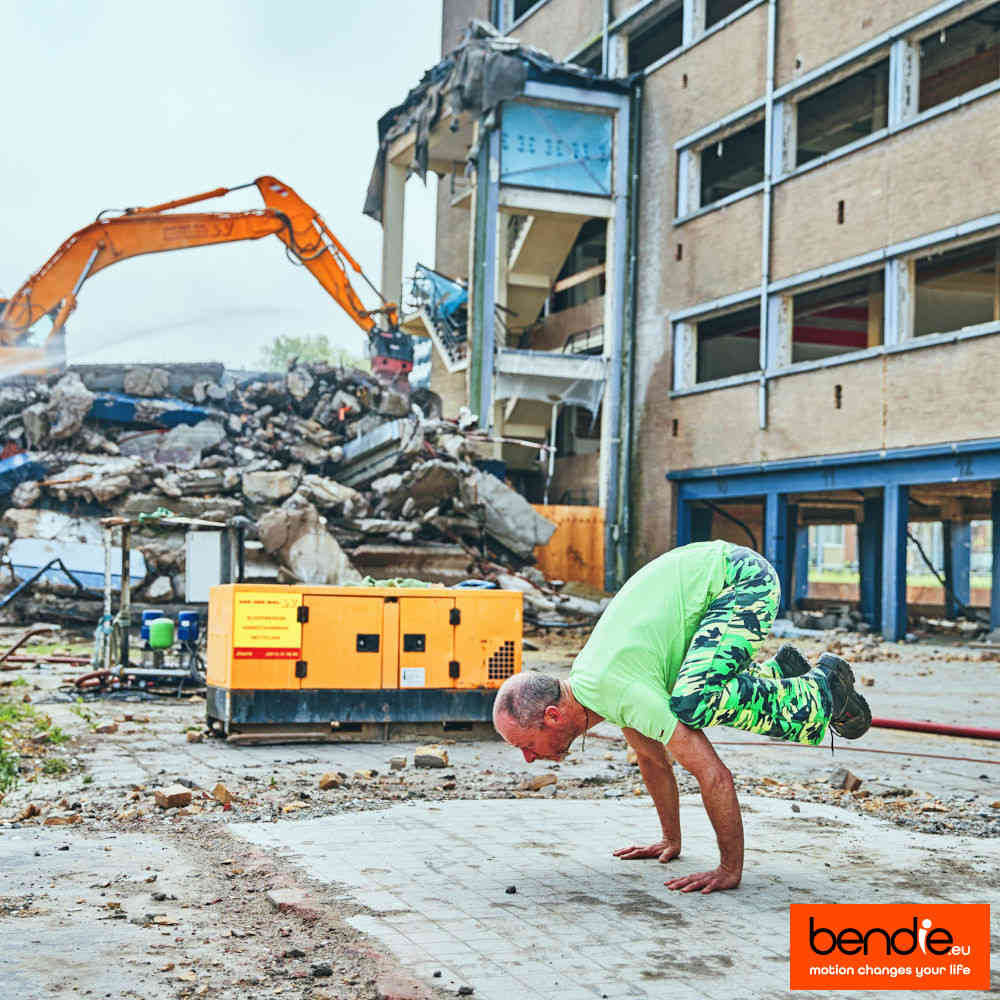 In beweging op de bouwplaats met Bendie