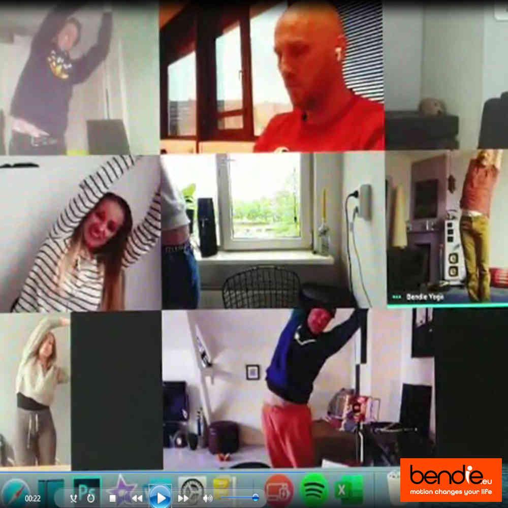 Video vergadering stretch workout