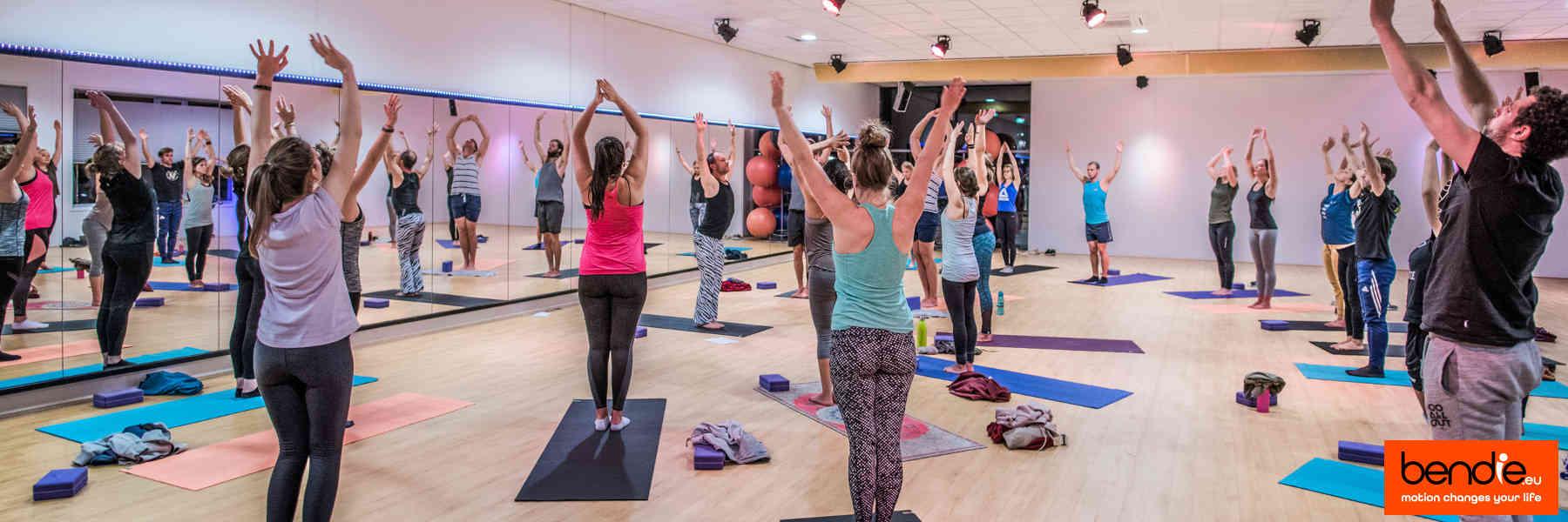 Het wekelijkse lesrooster voor yoga bij Bendie in Leeuwarden.